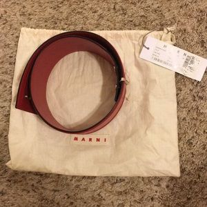 Marni wide belt tulip color in size 80